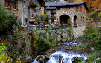 Villas and river in Andorra
